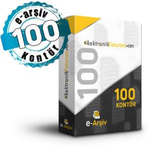 e-arsiv 100 kontör paketi