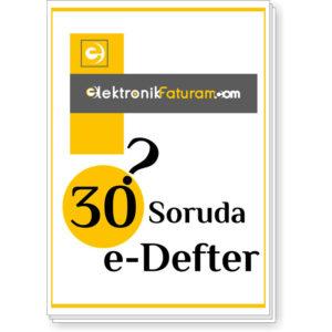 e-defter nedir 30 soru ve cevapları