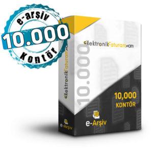 10000 e-arşiv kontör