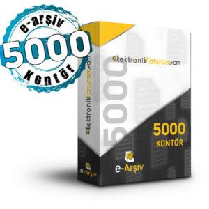 e-arşiv 5000 kontör