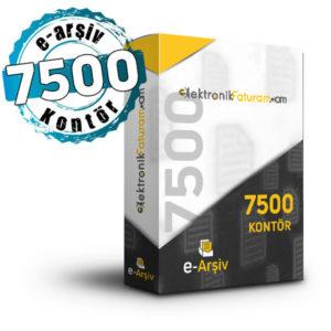 7500 e-arşiv kontörü