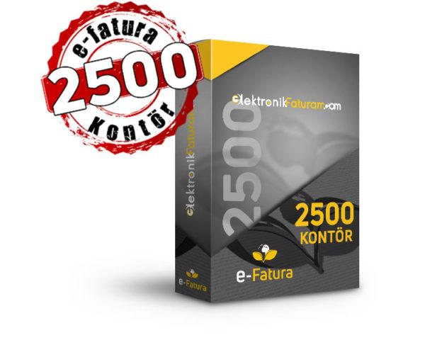 e-fatura 2500 kontor
