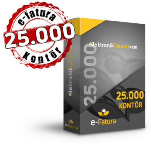 e-fatura 25000 kontor