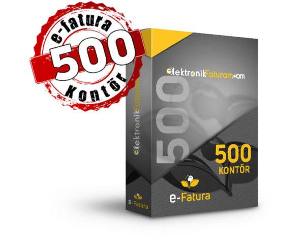 e-fatura 500 kontor