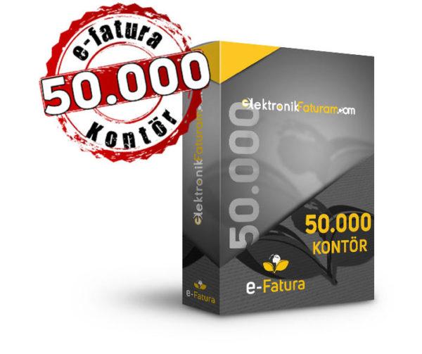 e-fatura 50000 kontor