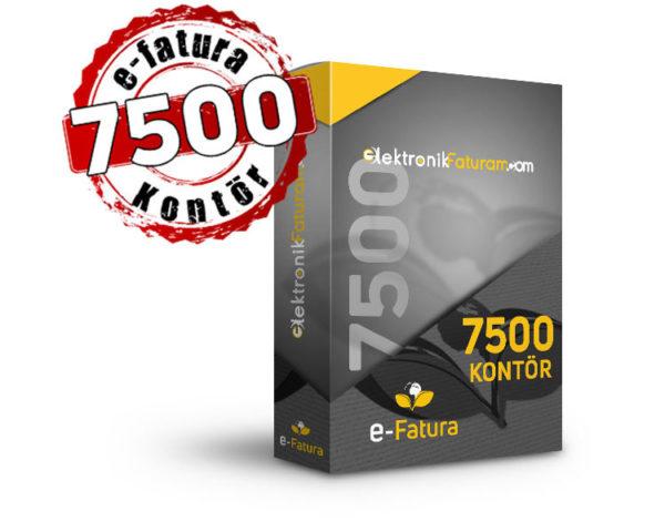 e-fatura 7500 kontor
